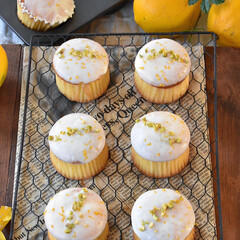 手作りお菓子/手作りスイーツ/手作りケーキ/手作りおやつ もらった無農薬レモンをレモンカップケーキ…(2枚目)