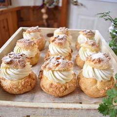 手作りケーキ/手作りおやつ/手作りお菓子/手作りスイーツ/ハンドメイド/グルメ/... 今日のおやつ。 ダブルクッキーシュー。