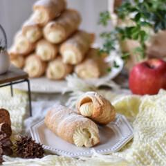 手作りお菓子/手作りおやつ/手作りスイーツ 今日のおやつ。 パイコロネ。 ディプロマ…(2枚目)