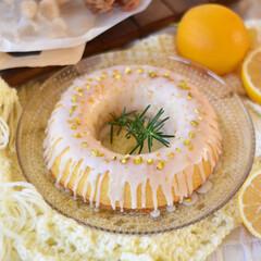 手作りケーキ/手作りおやつ/手作りお菓子/手作りスイーツ 今日のおやつ。 ウィークエンドシトロン🍋(2枚目)