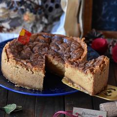 手作りお菓子/手作りスイーツ/おうちカフェ/手作りおやつ/手作りケーキ キャラメルチーズケーキ。 お世話になっと…(2枚目)