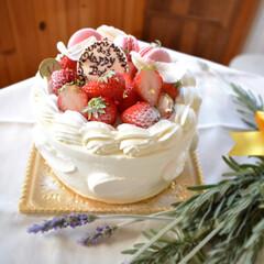 デコレーションケーキ/手作りケーキ/手作りスイーツ/手作りお菓子 頼まれものバースデーケーキ。  下手くそ…