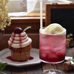 手作りケーキ/手作りスイーツ/手作りお菓子/お菓子作り バニラマフィンを焼いてクリチクリームとす…(3枚目)