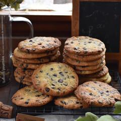 お菓子作り/おうちカフェ/手作りスイーツ/手作りお菓子 チョコチップクッキー。(1枚目)