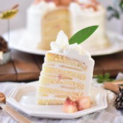 手作りおやつ/手作りお菓子/手作りスイーツ 昨日のケーキカット。