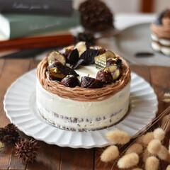 手作りスイーツ/手作りお菓子/手作りケーキ/手作りおやつ 今日のおやつ。 モンブランショートケーキ…