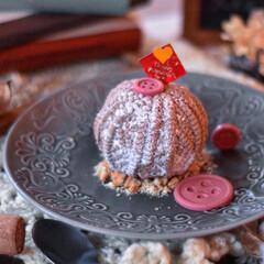 手作りケーキ/手作りおやつ/おうちカフェ/手作りスイーツ/手作りお菓子 家族用バレンタイン。 毛糸玉のチョコレー…(2枚目)
