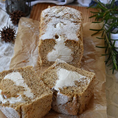 手作りおやつ/手作りお菓子/手作りケーキ/手作りスイーツ 今日のおやつ。 アールグレイシフォン。