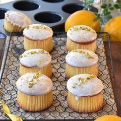 手作りお菓子/手作りスイーツ/手作りケーキ/手作りおやつ もらった無農薬レモンをレモンカップケーキ…