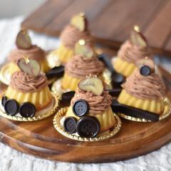 手作りおやつ/手作りケーキ/手作りお菓子/手作りスイーツ 今日のおやつ。 ミニクグロフでモンブラン。(3枚目)