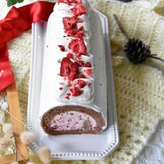 手作りおやつ/手作りスイーツ/手作りお菓子/手作りケーキ 今日のおやつ。 娘3のリクエストでロール…