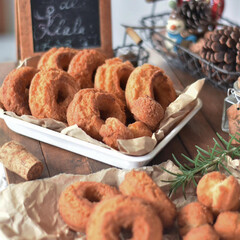 手作りスイーツ/手作りおやつ/手作りお菓子 今日のおやつ。 オールドファッション。 …(2枚目)