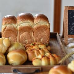 手作りパン 今日はパン屋さんごっこ。 イギリス食パン…