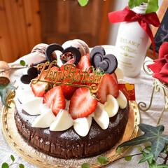 バースデーケーキ/手作りお菓子/手作りスイーツ/手作りケーキ/ハンドメイド/グルメ/... 頼まれ物のバースデーケーキです😊
