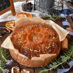 手作りケーキ/手作りスイーツ/手作りお菓子/手作りおやつ 卵白消費税フィナンシェ風オレンジケーキ🍊(3枚目)