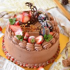 手作りスイーツ/手作りケーキ/手作りお菓子 頼まれものバースデーケーキ。 6号生チョ…(2枚目)