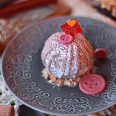 手作りケーキ/手作りおやつ/おうちカフェ/手作りスイーツ/手作りお菓子 家族用バレンタイン。 毛糸玉のチョコレー…(3枚目)