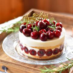 手作りお菓子/手作りおやつ/手作りケーキ/手作りスイーツ 娘1のバースデーケーキ。 アメリカンチェ…