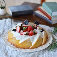 手作りケーキ/手作りお菓子/手作りおやつ/手作りスイーツ 新年初ケーキ。