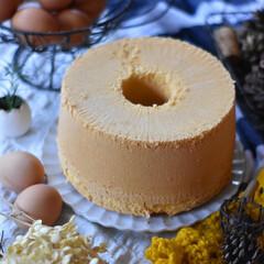 手作りスイーツ/手作りおやつ/手作りお菓子/手作りケーキ 贈り物用シフォンケーキ 。