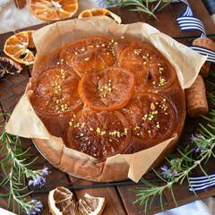 手作りケーキ/手作りスイーツ/手作りお菓子/手作りおやつ 卵白消費税フィナンシェ風オレンジケーキ🍊