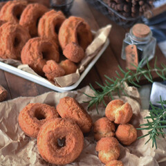 手作りスイーツ/手作りおやつ/手作りお菓子 今日のおやつ。 オールドファッション。 …(3枚目)