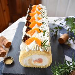 ロールケーキ/手作りケーキ/手作りおやつ/LIMIAごはんクラブ/ハンドメイド/グルメ/... デコポンのロールケーキ。