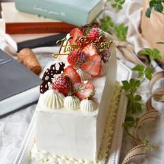 手作りおやつ/手作りお菓子/手作りケーキ/手作りスイーツ 義母へバースデーケーキ🎂