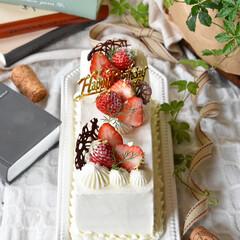 手作りおやつ/手作りお菓子/手作りケーキ/手作りスイーツ 義母へバースデーケーキ🎂(2枚目)