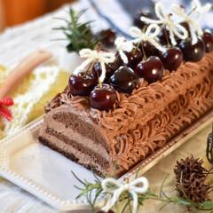 手作りお菓子/手作りスイーツ/手作りおやつ/手作りケーキ ダークチェリーのチョコレートケーキ🍫🍒(4枚目)