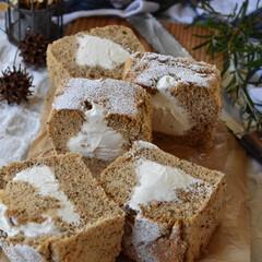手作りおやつ/手作りお菓子/手作りケーキ/手作りスイーツ 今日のおやつ。 アールグレイシフォン。(3枚目)