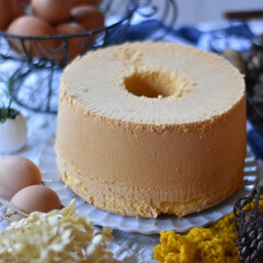 手作りスイーツ/手作りおやつ/手作りお菓子/手作りケーキ 贈り物用シフォンケーキ 。(2枚目)