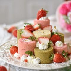 手作りスイーツ/手作りケーキ/手作りお菓子/手作りおやつ/ピンク 今日はたのしいひなまつりぃーーーーー っ…