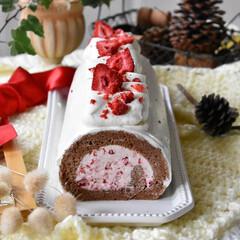 手作りおやつ/手作りスイーツ/手作りお菓子/手作りケーキ 今日のおやつ。 娘3のリクエストでロール…(3枚目)