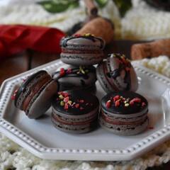 手作りお菓子/手作りスイーツ/手作りおやつ ショコラマカロン 。