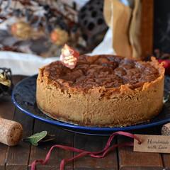 手作りお菓子/手作りスイーツ/おうちカフェ/手作りおやつ/手作りケーキ キャラメルチーズケーキ。 お世話になっと…(1枚目)