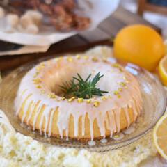 手作りケーキ/手作りおやつ/手作りお菓子/手作りスイーツ 今日のおやつ。 ウィークエンドシトロン🍋(3枚目)