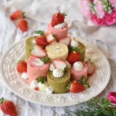 手作りスイーツ/手作りケーキ/手作りお菓子/手作りおやつ/ピンク 今日はたのしいひなまつりぃーーーーー っ…(3枚目)
