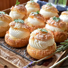 手作りおやつ/手作りスイーツ/手作りお菓子/手作りケーキ/ハンドメイド/グルメ/... 頼まれ物、クッキーダブルシュークリーム。