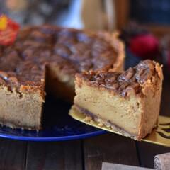 手作りお菓子/手作りスイーツ/おうちカフェ/手作りおやつ/手作りケーキ キャラメルチーズケーキ。 お世話になっと…(3枚目)