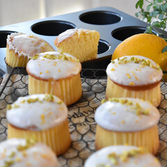 手作りお菓子/手作りスイーツ/手作りケーキ/手作りおやつ もらった無農薬レモンをレモンカップケーキ…(3枚目)