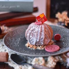 手作りケーキ/手作りおやつ/おうちカフェ/手作りスイーツ/手作りお菓子 家族用バレンタイン。 毛糸玉のチョコレー…(1枚目)