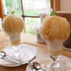 桃パフェ/葡萄屋kofu/山梨/至福のひととき/おやつタイム/みんなにおすすめ 桃パフェ゚・*:.。❁ 最高に美味しかっ…