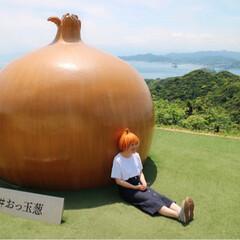 日本の美しい風景/淡路島/おっ玉葱/おでかけ/旅行/風景/... 淡路島はたまねぎ愛で溢れてた*° 淡路島…