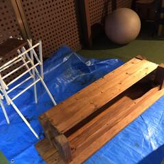 オットマンDIY/椅子をリメイク/リメイク/収納/DIY リメイクDIY第2弾です!! 先日完成し…(2枚目)