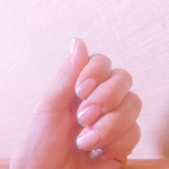 フレンチネイル/ネイル/セルフネイル 久しぶりに爪をキレイにしました〜😊 セル…(1枚目)