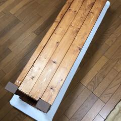 オットマンDIY/椅子をリメイク/リメイク/収納/DIY リメイクDIY第2弾です!! 先日完成し…(3枚目)