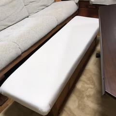 オットマンDIY/椅子をリメイク/リメイク/収納/DIY リメイクDIY第2弾です!! 先日完成し…(4枚目)