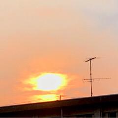 夕日 今の空 暑かった今日 夕日を 見ながら …(2枚目)