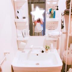 パナソニック ヘアドライヤー ナノケア 白 EH-CNA9A-W(ホームベーカリー)を使ったクチコミ「洗面所✩」